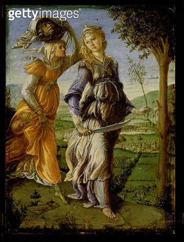 <b>Title</b> : The Return of Judith, 1467 (tempera on panel)<br><b>Medium</b> : tempera on panel<br><b>Location</b> : Galleria degli Uffizi, Florence, Italy<br> - gettyimageskorea