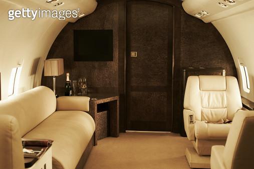 Interior of luxury private jet - gettyimageskorea