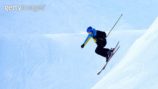 Man Skiing On Snow - gettyimageskorea