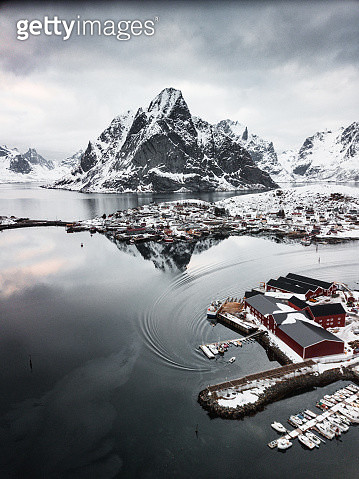 aerial view of Reine in Norway - gettyimageskorea