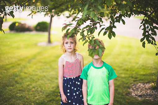 Kids Outside On a Sunny Summer Day - gettyimageskorea