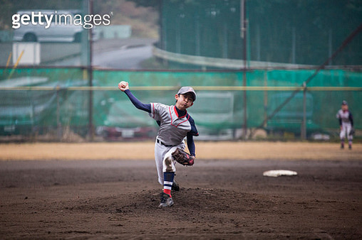 Youth Baseball Players, pitcher - gettyimageskorea