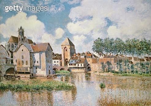<b>Title</b> : Moret-sur-Loing, the Porte de Bourgogne, 1891<br><b>Medium</b> : oil on canvas<br><b>Location</b> : Private Collection<br> - gettyimageskorea