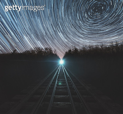 Railroad of Time - gettyimageskorea