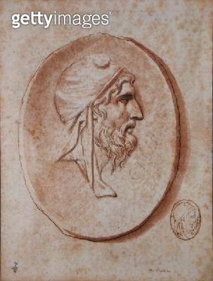 <b>Title</b> : Head of Priam (pen and ink wash on paper)<br><b>Medium</b> : pen and ink wash on paper<br><b>Location</b> : Musee Conde, Chantilly, France<br> - gettyimageskorea