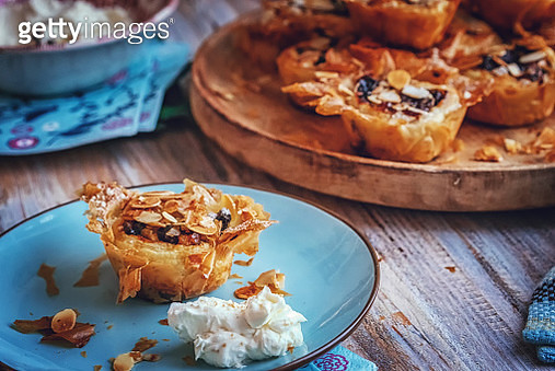 Sweet Filo Pastry Mince Pies with Dried Fruits - gettyimageskorea