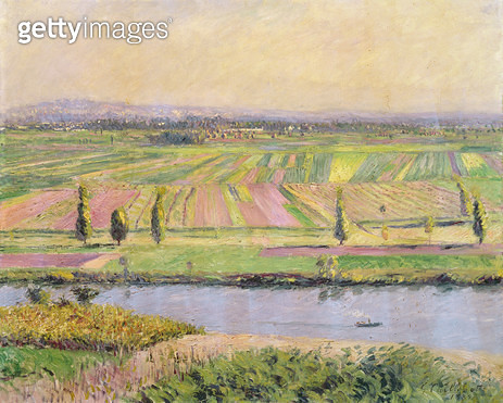 <b>Title</b> : The Plain of Gennevilliers from the Hills of Argenteuil, 1888 (oil on canvas)Additional Infola plaine de Gennevilliers vue des c<br><b>Medium</b> : oil on canvas<br><b>Location</b> : Private Collection<br> - gettyimageskorea