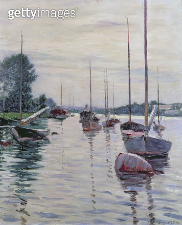 <b>Title</b> : Boats Anchored on the Seine (oil on canvas)Additional InfoBateaux a l'Ancre sur la Seine;<br><b>Medium</b> : oil on canvas<br><b>Location</b> : Private Collection<br> - gettyimageskorea