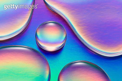 Colorful Waterdrops Macrophotography - gettyimageskorea