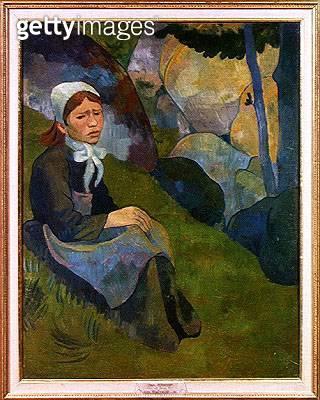 <b>Title</b> : Solitude, Huelgoat Landscape, c.1892 (oil on canvas)<br><b>Medium</b> : oil on canvas<br><b>Location</b> : Musee des Beaux-Arts, Rennes, France<br> - gettyimageskorea