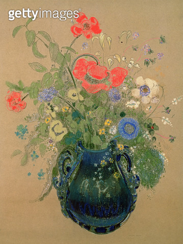 <b>Title</b> : Vase of Flowers, c.1905-08 (pastel on paper)<br><b>Medium</b> : pastel on paper<br><b>Location</b> : Private Collection<br> - gettyimageskorea