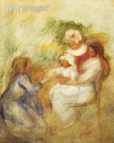 Family; La Famille. Pierre-Auguste Renoir (1841-1919). Oil on canvas. Painted circa 1896. 161 x 130cm. - gettyimageskorea