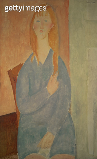 <b>Title</b> : Girl in a Blue Dress<br><b>Medium</b> : <br><b>Location</b> : Private Collection<br> - gettyimageskorea
