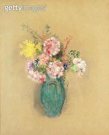 <b>Title</b> : Carnations (pastel on paper)<br><b>Medium</b> : pastel on paper<br><b>Location</b> : Fred Jones Jr. Museum of Art, University of Oklahoma, USA<br> - gettyimageskorea