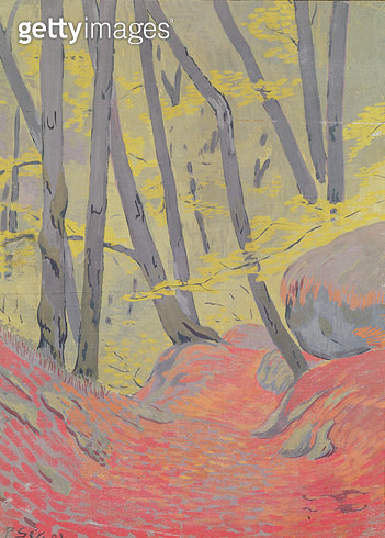 <b>Title</b> : Undergrowth (oil on canvas)<br><b>Medium</b> : <br><b>Location</b> : Musee Toulouse-Lautrec, Albi, France<br> - gettyimageskorea