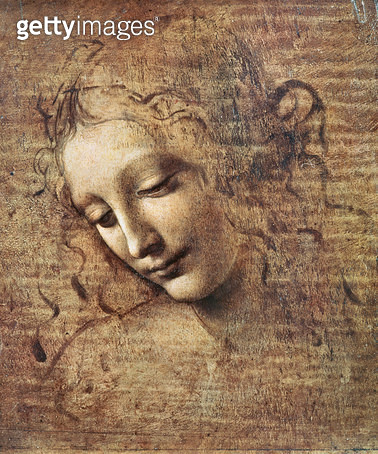 <b>Title</b> : Head of a Young Woman with Tousled Hair or, Leda (gouache on wood)<br><b>Medium</b> : gouache on wood<br><b>Location</b> : Galleria Nazionale, Parma, Italy<br> - gettyimageskorea