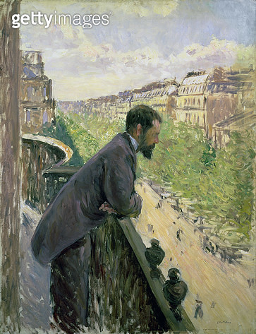 <b>Title</b> : Man on a Balcony, c.1880 (oil on canvas)<br><b>Medium</b> : oil on canvas<br><b>Location</b> : Private Collection<br> - gettyimageskorea