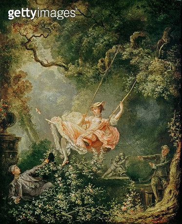 <b>Title</b> : The Swing (oil on canvas)<br><b>Medium</b> : oil on canvas<br><b>Location</b> : Musee Lambinet, Versailles, France<br> - gettyimageskorea