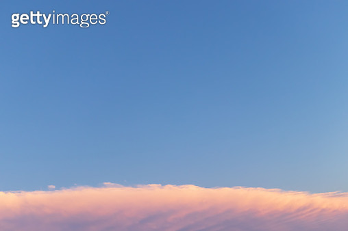 Cloud Typologies - Twilight Cloud Against Clear Sky - gettyimageskorea