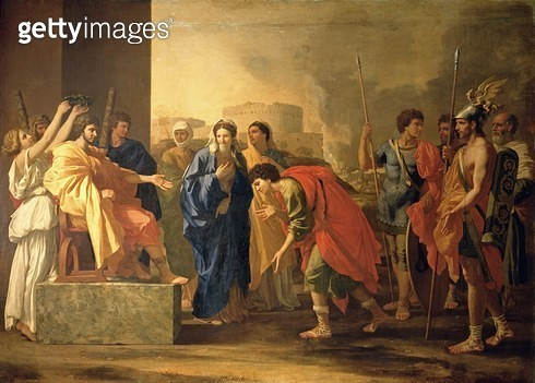 <b>Title</b> : The Continence of Scipio, 1640 (oil on canvas)<br><b>Medium</b> : oil on canvas<br><b>Location</b> : Pushkin Museum, Moscow, Russia<br> - gettyimageskorea