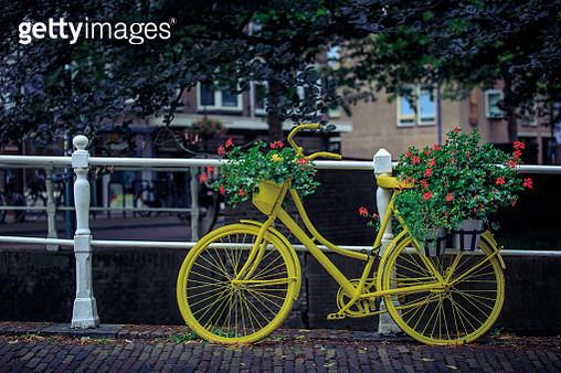 Dutch And Their Bikes Delft - gettyimageskorea