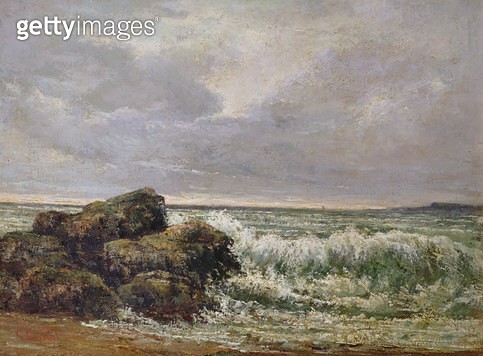 The Wave/ 1869 (oil on canvas) - gettyimageskorea