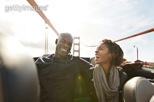 Couple enjoying holiday in San Francisco - gettyimageskorea