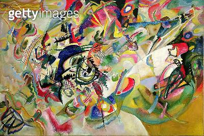 <b>Title</b> : Composition No. 7, 1913 (oil on canvas)<br><b>Medium</b> : oil on canvas<br><b>Location</b> : Tretyakov Gallery, Moscow, Russia<br> - gettyimageskorea