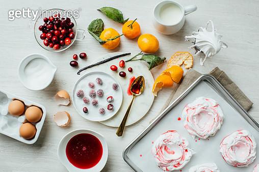 Cranberry Mandarin Pavlovas - gettyimageskorea
