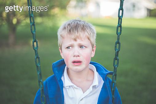 Crying Boy - gettyimageskorea