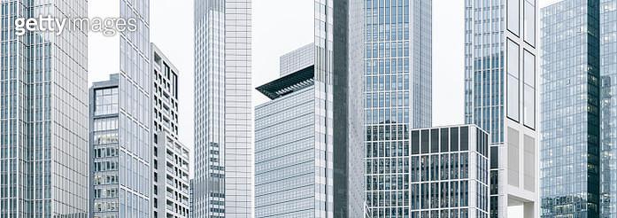 Photomontage of skyscrapers in Frankfurt, Germany - gettyimageskorea