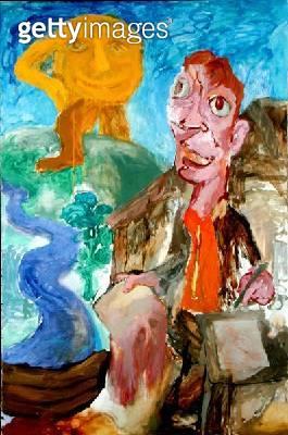 The Poet Vladimir Mayakovsky Invites the Sun to Tea/ 1985-87 (oil on canvas) - gettyimageskorea
