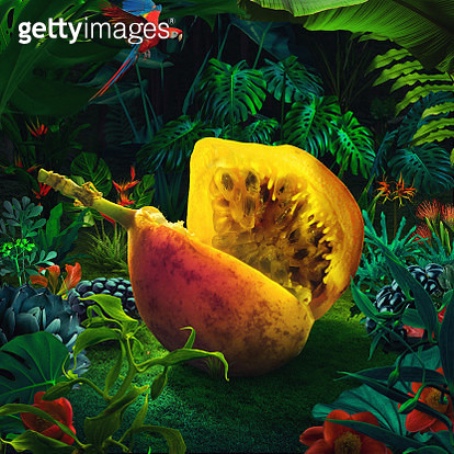 Surreal giant maracuja - gettyimageskorea