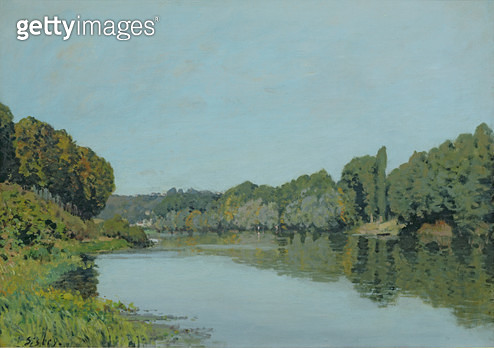 <b>Title</b> : The Seine at Bougival, 1873 (oil on canvas)<br><b>Medium</b> : oil on canvas<br><b>Location</b> : Musee d'Orsay, Paris, France<br> - gettyimageskorea