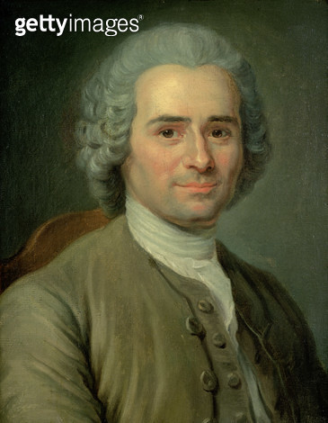 <b>Title</b> : Jean-Jacques Rousseau (1712-78) (oil on canvas)<br><b>Medium</b> : oil on canvas<br><b>Location</b> : Musee de la Ville de Paris, Musee Carnavalet, Paris, France<br> - gettyimageskorea