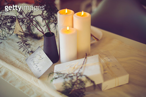 Table setting for a Christmas celebration event - gettyimageskorea