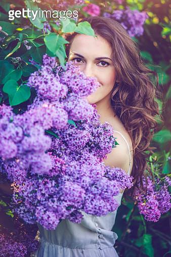 Beautiful woman in park - gettyimageskorea