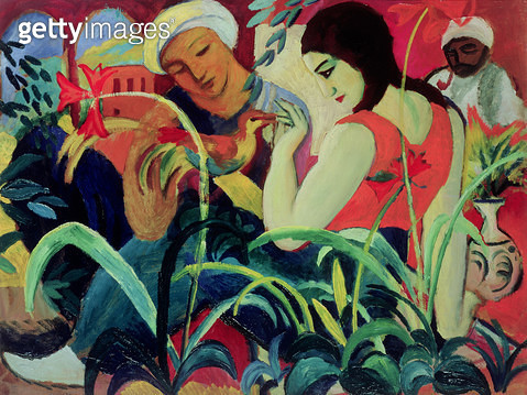 <b>Title</b> : Oriental Women (Odalisques), 1912 (oil on board)<br><b>Medium</b> : oil on board<br><b>Location</b> : Private Collection<br> - gettyimageskorea