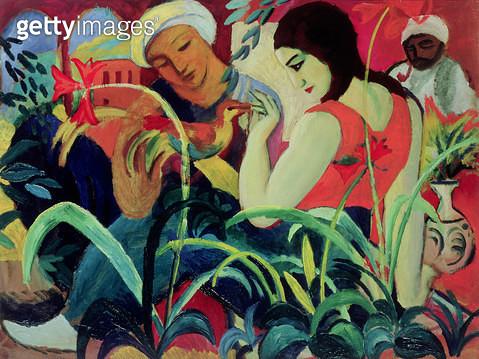 <b>Title</b> : Oriental Women (Odalisques), 1912 (oil on board)<br><b>Medium</b> : oil on board<br><b>Location</b> : Private Collection<br> - gettyimageskorea
