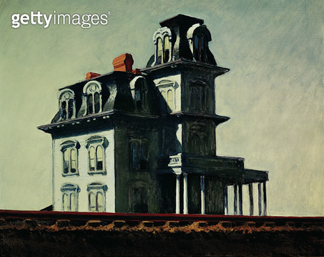 <b>Title</b> : The House by the Railroad, 1925 (oil on canvas)Additional InfoMaison le long du chemin de fer;<br><b>Medium</b> : oil on canvas<br><b>Location</b> : Museum of Modern Art, New York, USA<br> - gettyimageskorea
