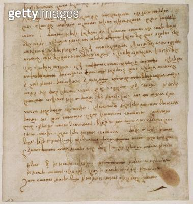<b>Title</b> : Page from a notebook (sepia ink on linen paper)<br><b>Medium</b> : <br><b>Location</b> : Galleria dell' Accademia, Venice, Italy<br> - gettyimageskorea