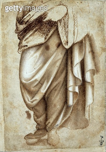 <b>Title</b> : Study of a Standing Figure in Drapery (pen and gouache on paper)Additional Infoformerly attributed to Leonardo da Vinci;<br><b>Medium</b> : pen and gouache on paper<br><b>Location</b> : Musee Conde, Chantilly, France<br> - gettyimageskorea