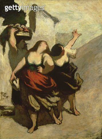 <b>Title</b> : The Ribalds (The Miller's Daughters) (oil on canvas)<br><b>Medium</b> : oil on canvas<br><b>Location</b> : The Barnes Foundation, Merion, Pennsylvania, USA<br> - gettyimageskorea