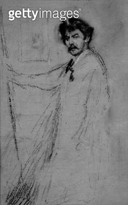 <b>Title</b> : Self Portrait (charcoal on paper)<br><b>Medium</b> : <br><b>Location</b> : Chelsea Arts Club, London, UK<br> - gettyimageskorea