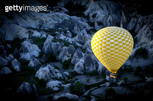 Colorful hot air balloon flying over Cappadocia - gettyimageskorea