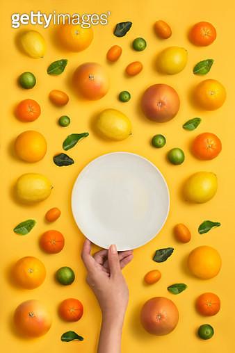 Citrus fruit family conceptual still life. - gettyimageskorea
