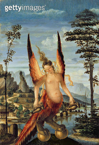 <b>Title</b> : Allegory of Fortune (oil on panel)Additional Infoformerly attributed to Giovanni Bellini; restored in 2000;<br><b>Medium</b> : oil on panel<br><b>Location</b> : Galleria dell' Accademia, Venice, Italy<br> - gettyimageskorea