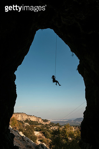 Young Woman Rock Climber - gettyimageskorea