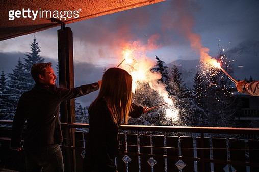 New Year's Day celebrations at home with friends and family - gettyimageskorea