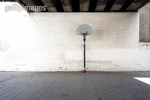Stunning urban basketball court in Barcelona city. - gettyimageskorea
